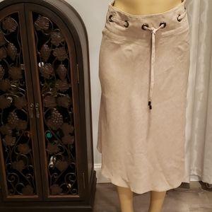 NWT Naf Naf EUR 36 Tan A-line Skirt Modest